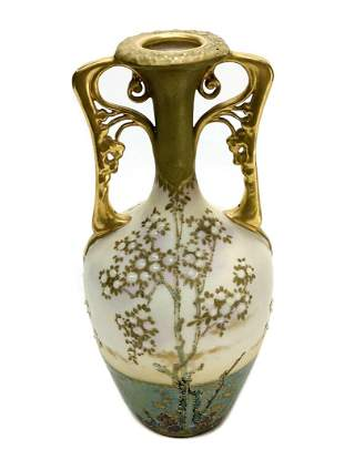 Amphora RSTK Porcelain & Jeweled Enamel Vase, circa