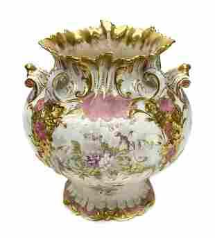 Crown Derby China Porcelain Vase, 19th Century