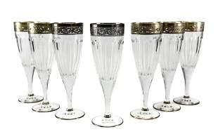 7 Michael C. Fina Silver Italian Champagne Flutes