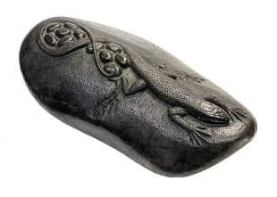 Steve Kestrel Bronze Parthenogenesis Lizard Sculpture