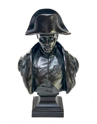 Continental Patinated Bronze Napoleon Bust by Rollin