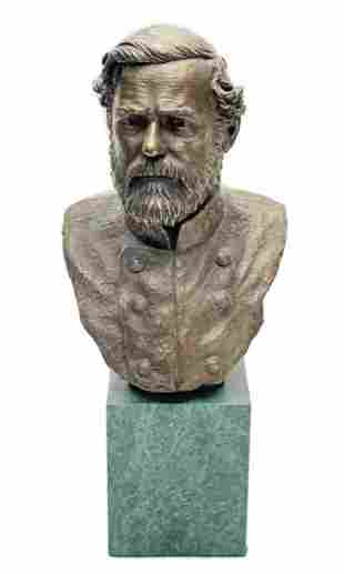 Francis Barnum Chilmark Pewter Robert E. Lee Bust