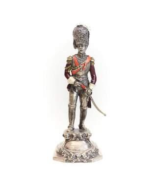 I.M.A. Di Guerci & C. Italian Silver Military Figurine