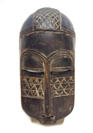 African Wood Face Mask