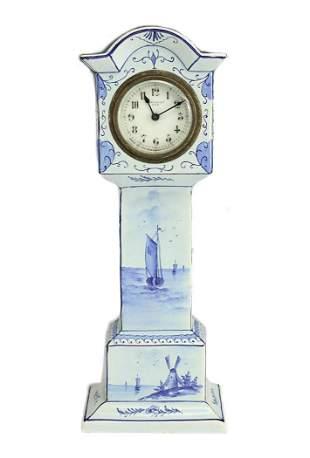 Austrian Porcelain Miniature Long Holster Clock
