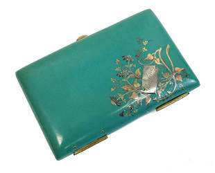 Continental 14k Gold Celluloid Mixed Metal Card Case