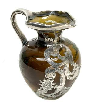 Rookwood Pottery & Gorham Sterling Ewer by Schmidt 646W