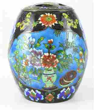Chinese Cloisonne & Enamel Covered Pot
