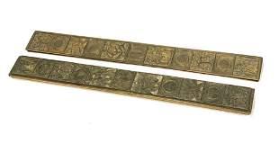 Tiffany Studios Bronze Blotter Ends in Bookmark #1002