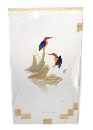 George Sandstrom Watercolor Ornithological Illustration