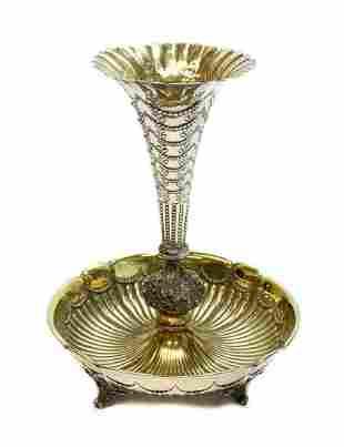 Gorham Sterling Silver Fluted Vase, 19th C.