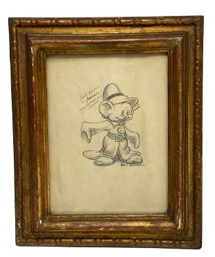 Pencil Drawing of Dopey From Snow White by Walt Disney