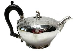 Victorian James Charles Edington Silver Teapot