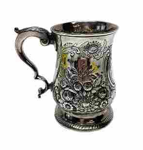 English George III John Kidder Sterling Silver Cup 1780