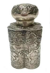 Georg Roth & Co. German Hanau Silver Tea Caddy c1890
