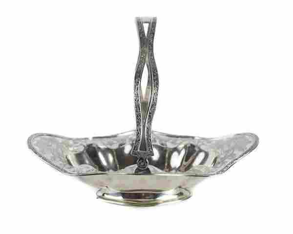 Gorham Sterling Silver Basket Pierced Crest