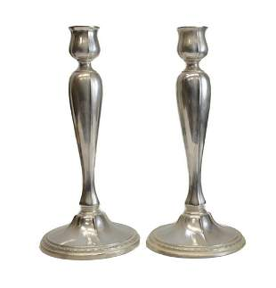 Dominick & Haff Weighted Sterling Silver Candlesticks