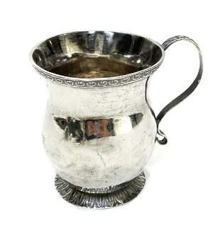 John Curry Philadelphia Coin Silver Creamer Cup, c1840