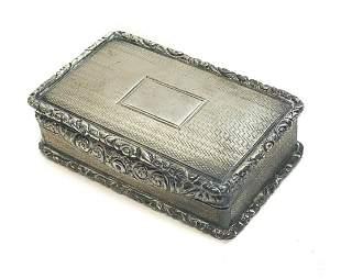 John Bettridge Birmingham Sterling Silver Pill Box