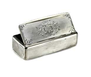 Guignard .950 Silver Snuff Box, French 19th C