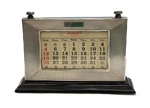 W J Myatt & Co Birmingham Sterling Silver Calendar 1929