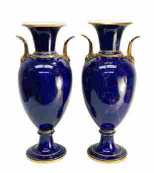 Large Pair Manufacture de Sevres Vases, 1875