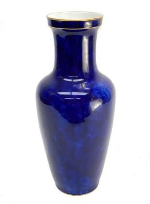 Manufacture de Sevres Porcelain Cobalt Vase