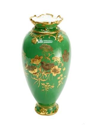 Royal Crown Derby Tiffany & Co. Porcelain Floral Vase