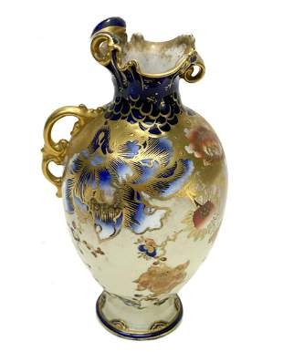 Royal Crown Derby Hand Painted Porcelain Ewer