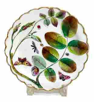 Royal Worcester Plate in Blind Earl Pattern c.1852-1862