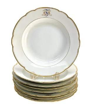8 KPM Berlin Porcelain Soup Bowls Plates