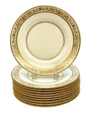 10 Minton England Porcelain Dinner Plates