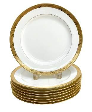 8 Minton for Tiffany & Co. Porcelain Dinner Plates