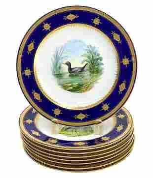 8 Minton England Hand Painted Porcelain Cabinet Plates