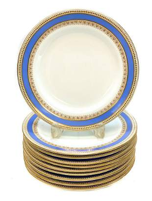 10 Royal Worcester for Tiffany Porcelain Plates