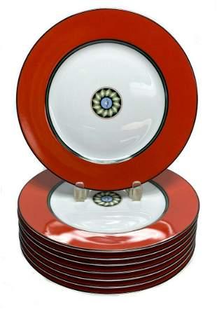 8 Puiforcat Porcelain Dinner Plate in Pompei