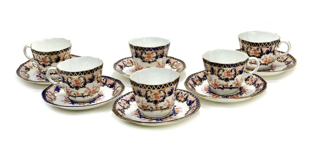 6 Royal Crown Derby Cup and Saucers in Kings