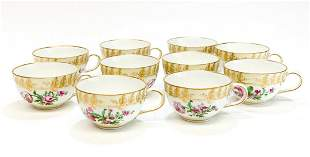 10 KPM Germany Porcelain Hand Painted Cups