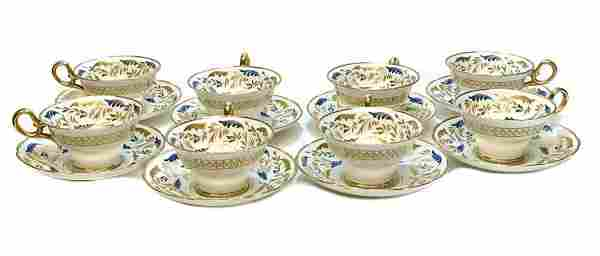 8 Copeland Porcelain for Tiffany Cup and Saucers