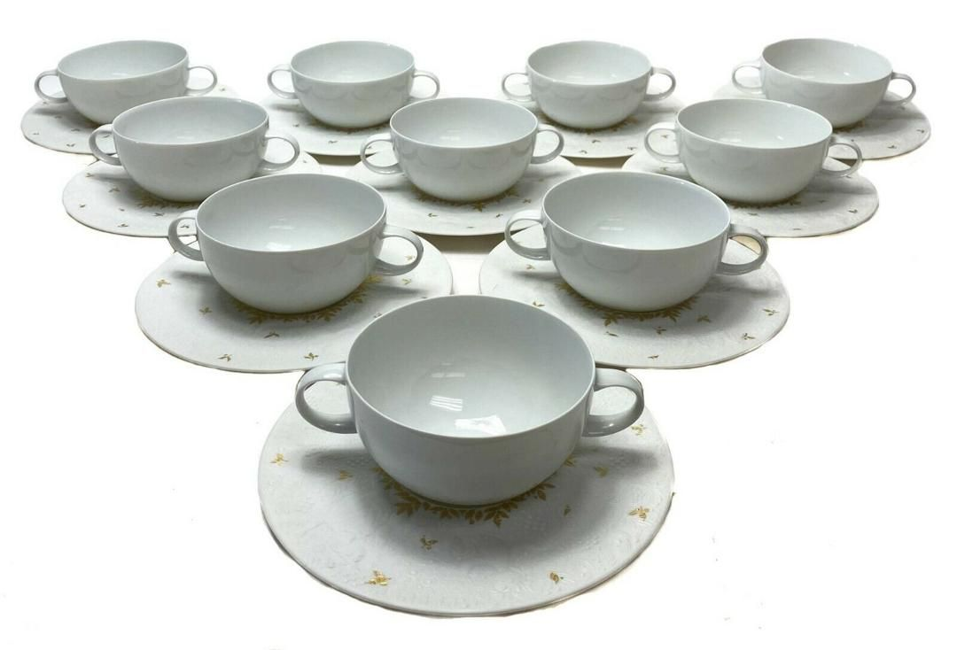 10 Rosenthal Magic Flute Papageno Cup and Saucers