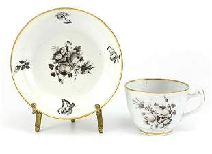 Chinese Export Porcelain Cup & Saucer c1790