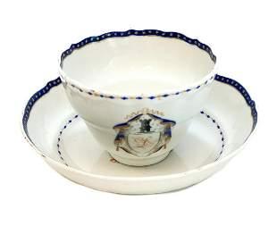 Chinese Export Porcelain Cobalt Blue & Gilt Cup &