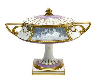 Minton Porcelain Pate-sur-Pate Lidded Urn A.Birks