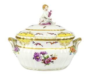 KPM Porcelain Tureen Cherub Finial c1900