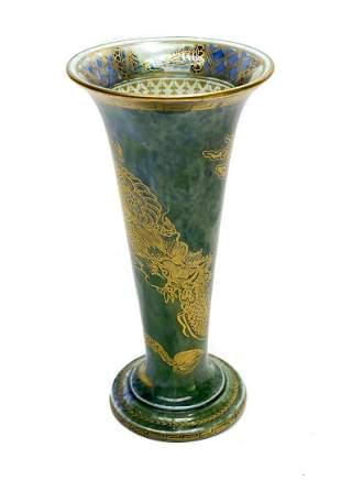 Wedgwood England Luster Porcelain Fluted Dragon Vase