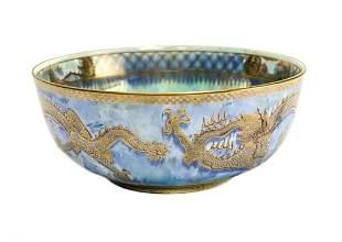 Wedgwood England Luster Porcelain Dragon Bowl