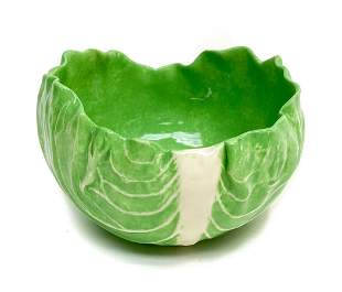 Dodie Thayer Pottery Lettuce Leaf Earthenware Small