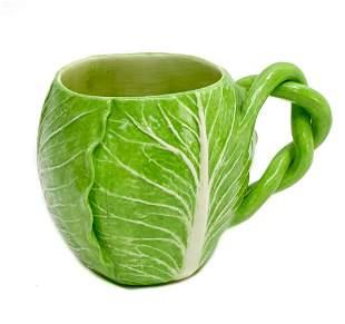 Dodie Thayer Jupiter Pottery Lettuce Leaf Earthenware