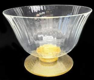 Venetian Gold-Flecked Table Bowl