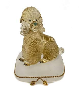 Carved Citrine Poodle Figurine, Idar-Oberstein